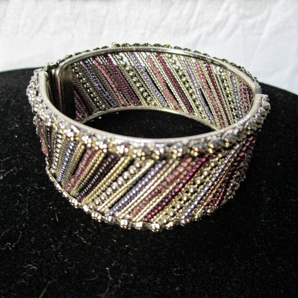 Jewelry - Silver Bracelet with colored beads